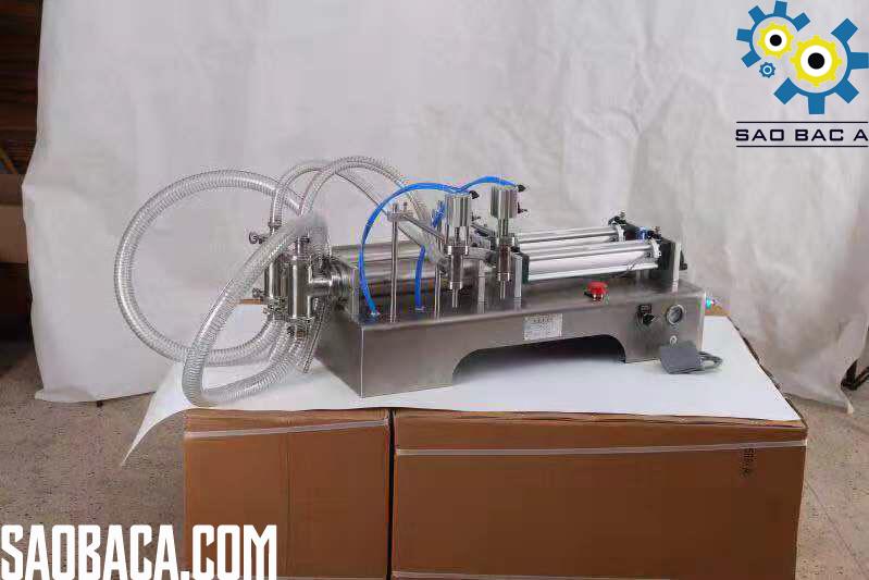 máy chiết rót dịch lỏng bán tự động