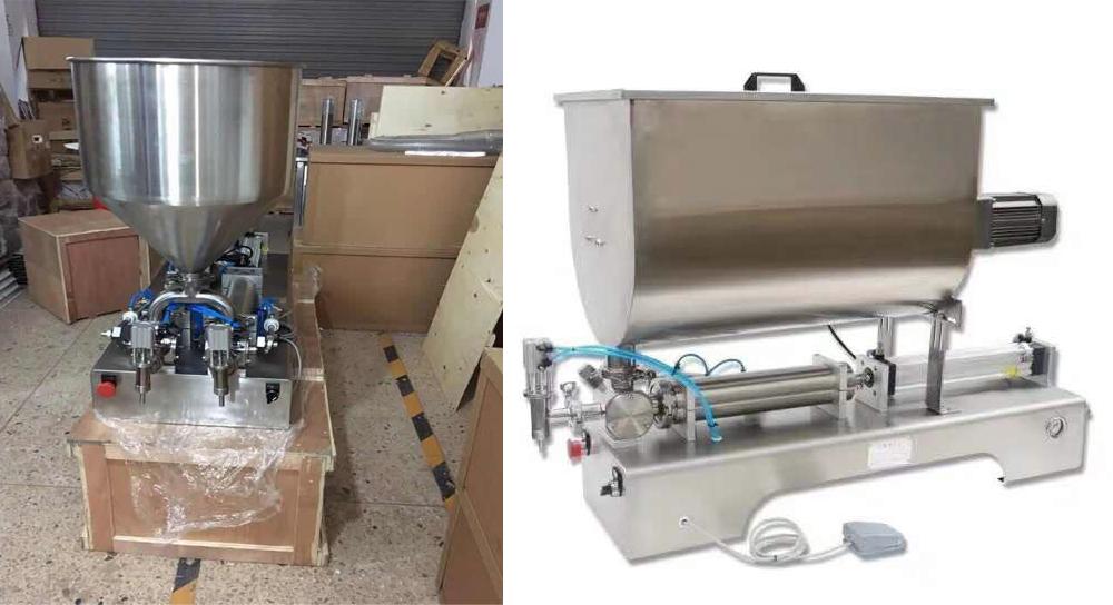 máy chiết rót dịch sệt bán tự động